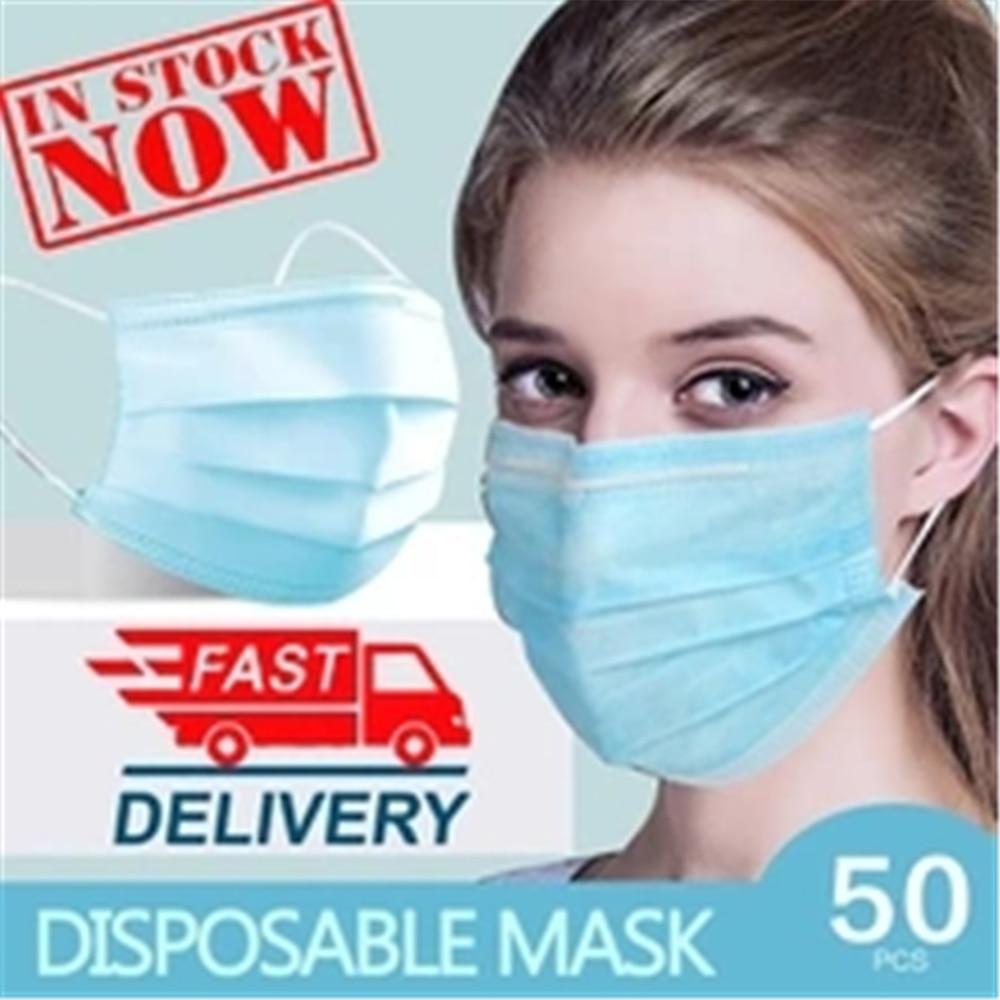 100 Pcs Surgical Mask Anti-virus Respirator Disposable Mouth Masks 3 Layer FFP3 KF94 Elastic Earloop N95 Face Mask
