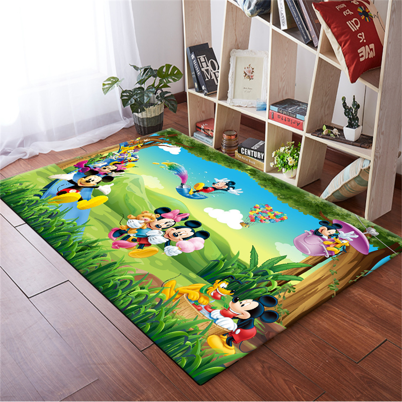 Mickey Mouse Mat Bathroom Child Boy Girl Carpet Hallway Doormat Anti - Slip Bathroom Carpet Absorb Water Kitchen Mat/Rug