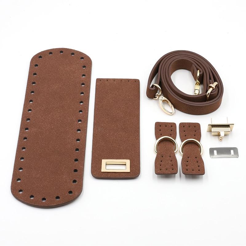 Leather Handmade Handbag Woven Bag Set Bag Cover Shoulder Strap High Quality Bag Bottoms For DIY Handbag Shoulder Bag 7PCS /Set