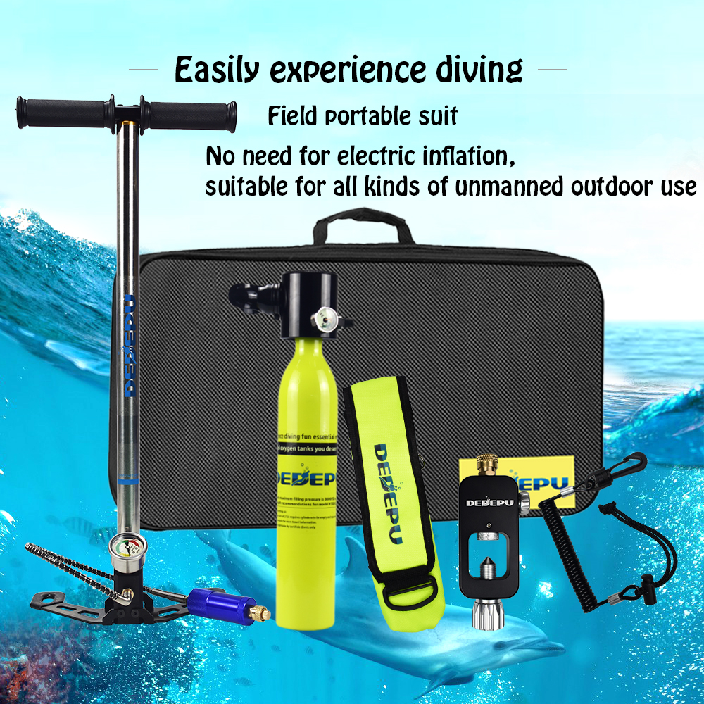 DEDEPU Mini Diving Oxygen Tank A Set Entertainment Diving Portable Underwater Respirator Set