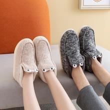 купить POSEE Indoor Snow Boots Winter Fur Ankle Female Bowtie Warmer Plush Suede EVA Flat Slip On Fashion Platform Ladies Shoes 2037 дешево