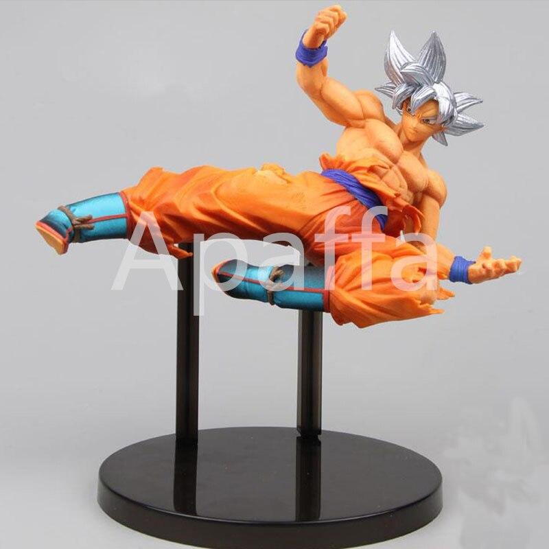 Dragon Ball Goku Ultra Instinct Silver Hair Super Saiyan Goku Migatte No Gokui PVC Action Figure Toy Collectible Model 20cm