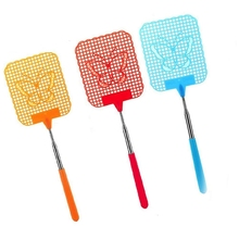 Pocket Extendable Fly Swatter, Travel Partner, Strong Flexible Manual Swat Durable Telescopic Handle - Pack of 3