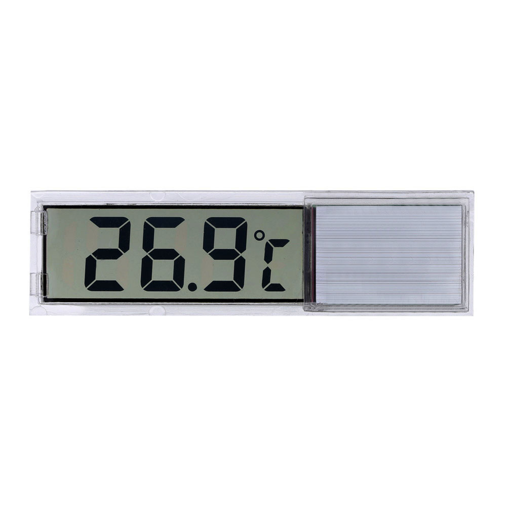 Plastic Metal 3D Digital Electronic Aquarium Thermometer Fish Tank Temp Meter Gold Silver Drop Shipping