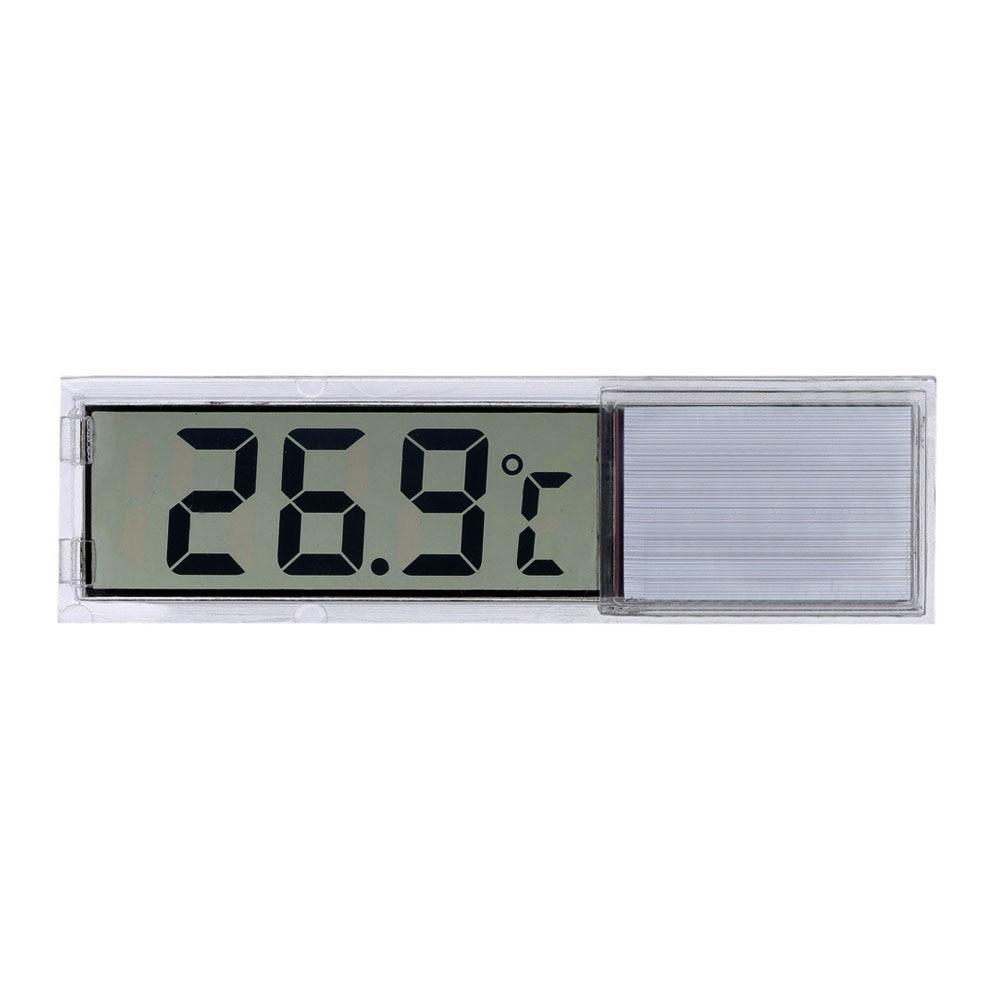 Plastic Metal 3D Digital Electronic Aquarium Thermometer Fish Tank Temp Meter Gold Silver Drop Shipping