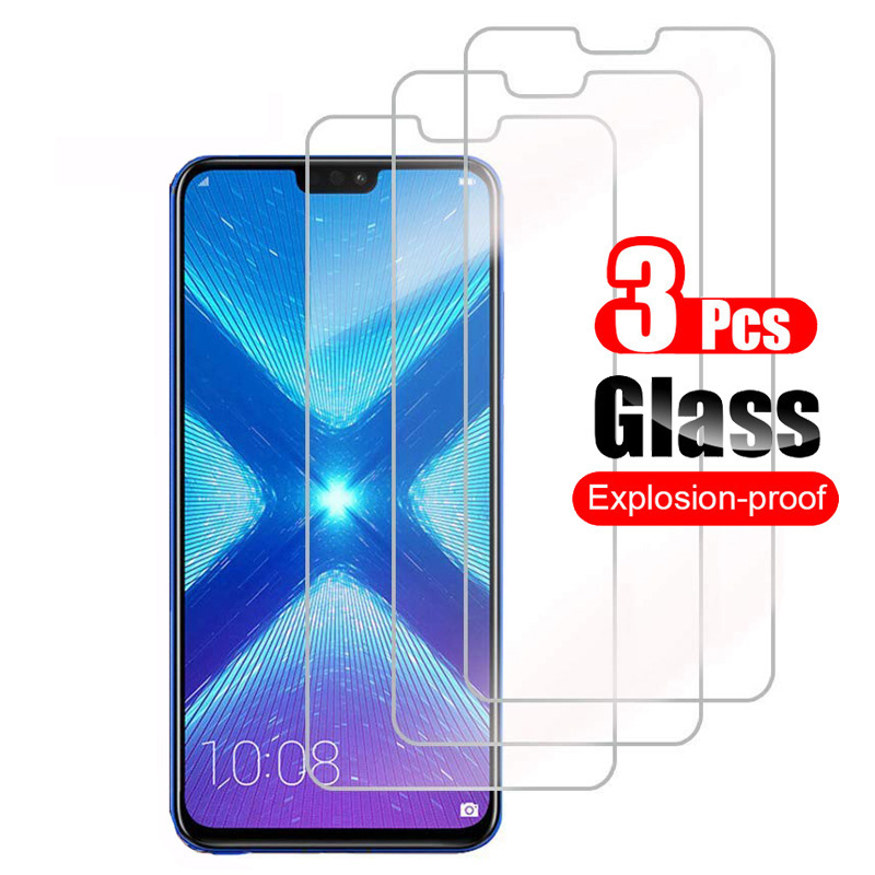 3Pcs Tempered Glass For Huawei Honor 8X 8A Pro 8C 8S Screen Protector Protective Glass For Honor 8 A X S Honor8X Honor8S Film