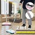 ステンレス鋼掃除機プッシュ型ハンドプッシュ魔法のほうきちりとりハンドル家庭用床洗浄手のプッシュ掃除モップ
