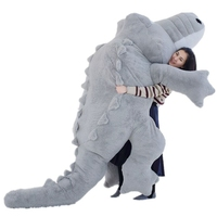 Dorimytrader 118'' Jumbo Plush Crocodile Toy Soft Stuffed Giant Alligator Sofa Bed Great Gift 300cm Biggest all Over the World