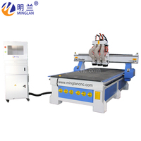 Three Heads auto tool change machine 1325 woodworking multi spindles cnc router