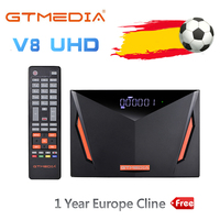 2020 NEW GTmedia V8 UHD TV Satellite Receiver Combo DVB S2 T2 Cable H.265 4K Ultra HD Built in WIFI Cline GT Media Freesat ccam