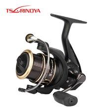 TSURINOYA для рыбалки катушка ST 2000 2500 5,2: 1 7 кг сопротивления легкий приманка катушка для спиннинга 8+ 1 подшипник металлическая шпуля гладкими колесами катушки