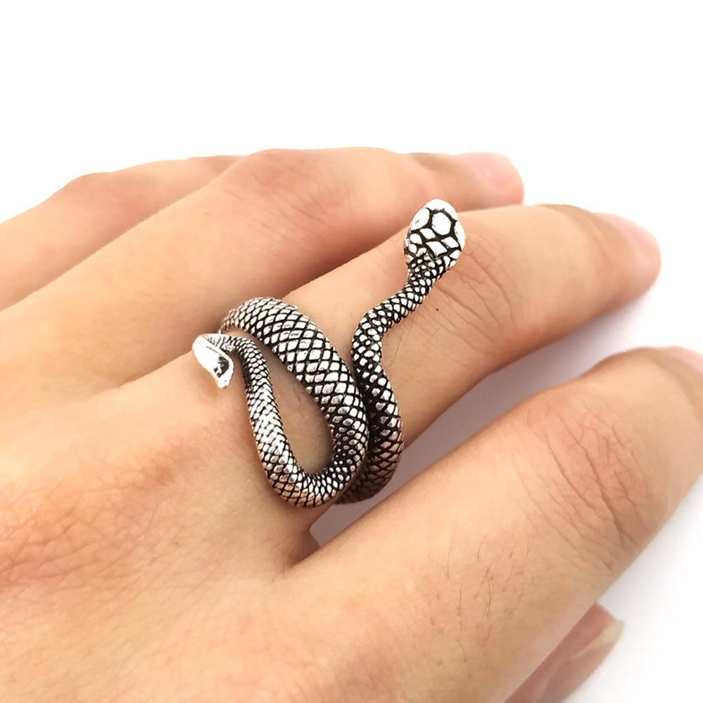 1 шт., новое Европейское кольцо в стиле панк, преувеличенное кольцо в виде змеи, модное Оригинальное стереоскопическое регулируемое кольцо для открытия, ювелирные изделия 4
