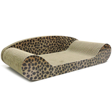 Гофрированный Бумажный коврик для кошек, скребок для кошек, котенок, скребок для дивана, кровати, кошек, забота о когтях, игрушки, скребок для ногтей, Леопардовый коврик