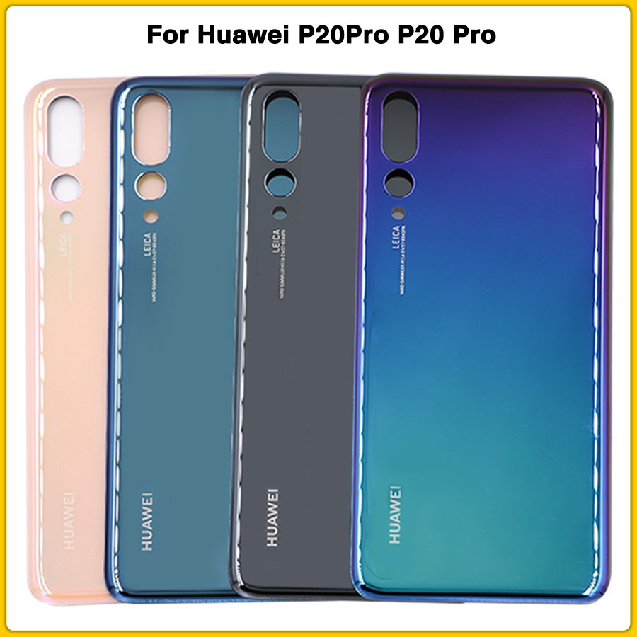New P20 Pro Rear Housing Case For Huawei P20Pro P20 Pro Battery Back Cover Battery Door Glass Rear Cover Panel Replacement