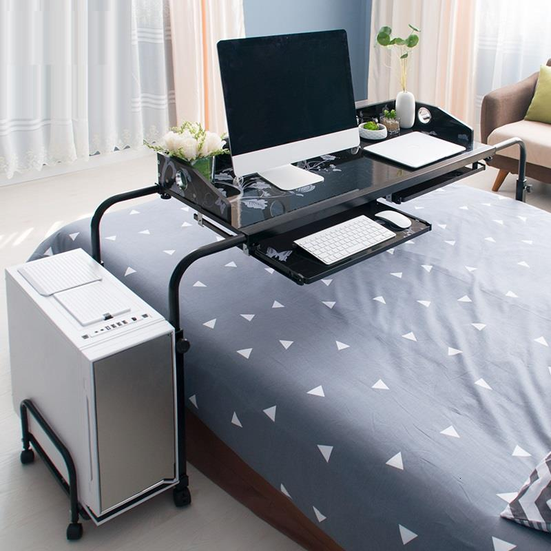 Movable Computer PC Laptop Table Desktop Study Table With Wheels