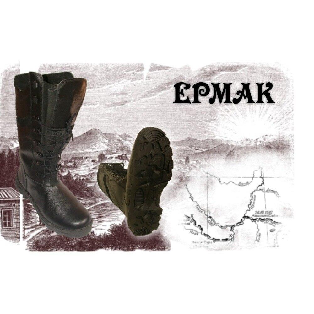Botas tácticas de invierno de alta calidad botas de tobillo de mujer con piel hecha en Rusia zapatos de caza de cuero genuino