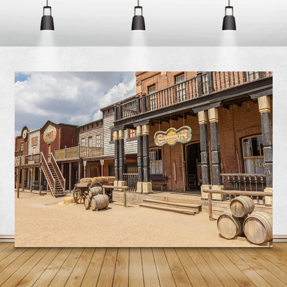 Village Wood Photography Backdrops Retro Studio Video Art Photo Background *DC