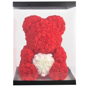 Image 5 - 2020 Cheap Red Bear Rose Teddy Bear Rose Flower Artificial Decoration Birthday Christmas Gifts for Women Valentines Gift