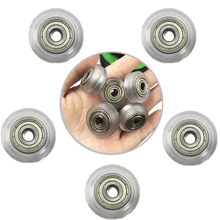 5pcs CNC Clear Polycarbonate V-groove Wheel Pulley Linear Bearing For Ender 3 Pr 3D Printer Parts Supplies Accessories cnc clear transparent polycarbonate prototyping electron prototype transparent parts semi transparent parts processing