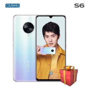 Перейти на Алиэкспресс и купить Оригинальный двойной режим 5G vivo S6 Exynos 980 Celular 48MP Quad задняя камера 4500mAh Большая батарея 6,44 ''водослива экран мобильный телефон