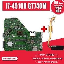 GT740M i7 4510U 4GB pamięci RAM X550CC płyta główna REV2.0 dla ASUS X552C X550CC X550CL Y581C Notebook płyta główna X550CC płyta główna w Płyty główne od Komputer i biuro na