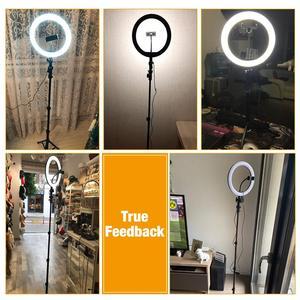 Image 5 - ビデオリングライト 10in 三脚スタンドビデオ電話ホルダー youtube ライブリングライト写真撮影ランプ調光可能な照明