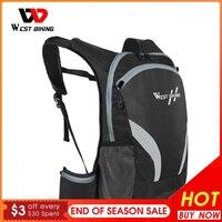 WEST BIKING-mochila para ciclismo de 15L, bolsa transpirable para deportes al aire libre, escalada, senderismo