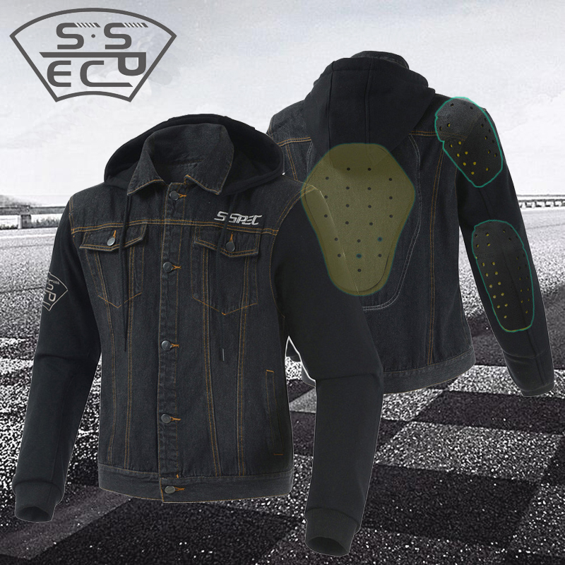Windbreaker Moto Man s Racing Casual Denim Jacket Motocross Coat Motorcycle Jaqueta Motoqueiro With Protection Off-Road Jackets