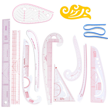 4 13 sztuk francuski krzywa Metric Grading linijka miara krawiectwo krawiec szablon do rysowania narzędzie rzemieślnicze plastikowe materiały krawieckie tanie i dobre opinie Do ściegu krzyżowego CN (pochodzenie) Z tworzywa sztucznego French curve sewing ruler Sewing ruler multi-functional Ruler for patchwork