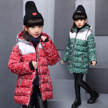 NEW Girl Winter Cotton-Padded Jacket Children's Fashion Coat Kids Outerwear girls warm down jacket Children Clothing 4-15 years balabala children girls down jacket winter girl warm down jacket hooded thin fashion soft comfortable kids coat clothing 4 color