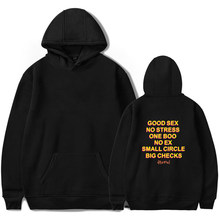 Bom sexo sem estresse um boo não ex pequeno círculo grandes cheques hoodies homens engraçado impressão pulôver streetwear hoodie feminino/masculino