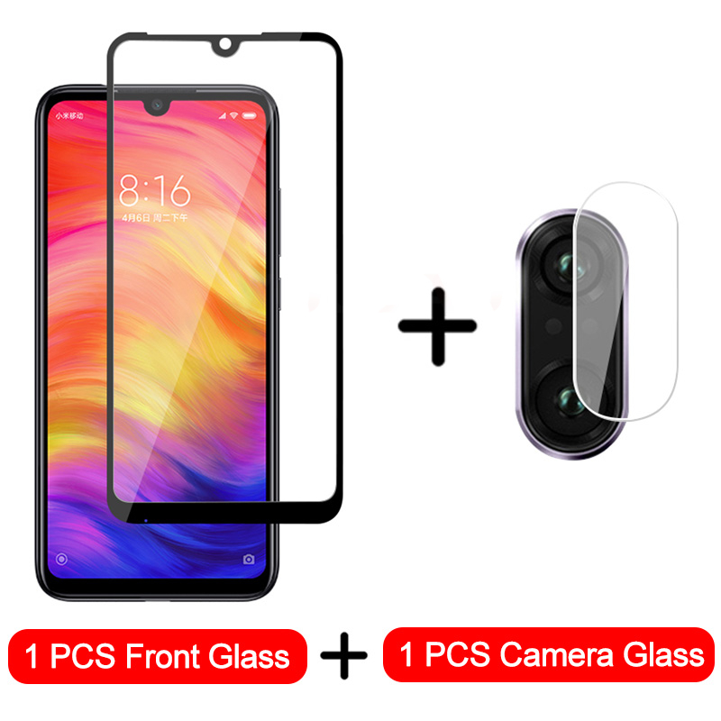 2-in-1 Camera Glass For Xiaomi Redmi Note 7 8 6 Tempered Glass Screen Protector For Redmi Note 8 7 6 5 Pro Protective Glass Film