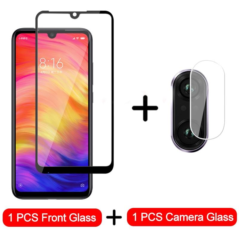 2-in-1 Camera Glass For Xiaomi Redmi Note 7 8 6 Tempered Glass Screen Protector For Redmi Note 8 7 6 5 Pro Protective Glass Film