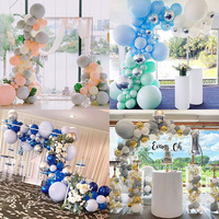 Balloon chain opening arch Party birthday party background wall Creative decoration of wedding room Balloon suit kids decor