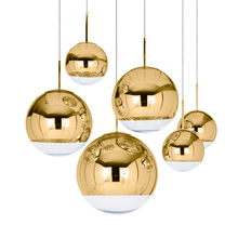 Moderne Glazen LED Hanglamp Bar Trappen (een Drie Lichten) restaurant LED Hanglampen Woonkamer Lamp Plating Sferische