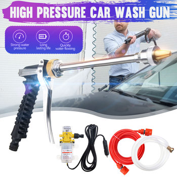 12V 100W 160PSI High Pressure Car Electric Wash Pump Sprayer Kit Auto Washer Sprayer Cleaning Machine Set with Car Charger image