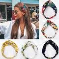 Женские богемные повязки для волос с принтом, винтажные повязки на голову с тюрбаном, Летние повязки для волос, аксессуары для волос