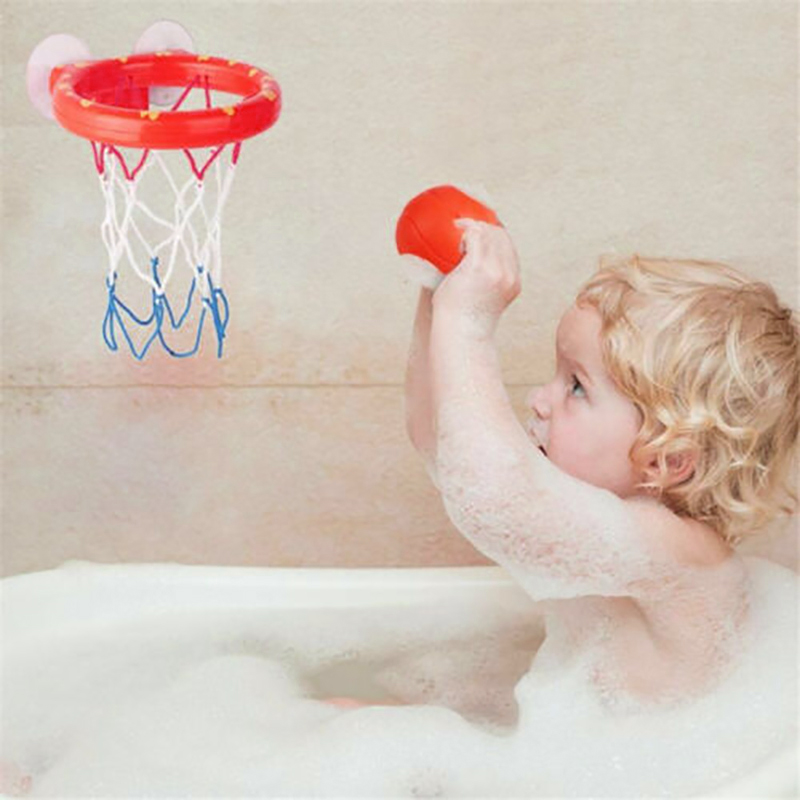 Image 5 - Safe Original Kids Funny Bath Toys Plastic Bathtub Shooting Game Toy Set Basketball Suctions Cups Mini With Hoop Balls Children-in Bath Toy from Toys & Hobbies