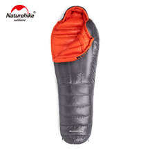 Naturehike Down sleeping bag Outdoor thickening Warm camping Single sleeping bag Adult light Mummy sleeping bag NH19YD001 цена 2017