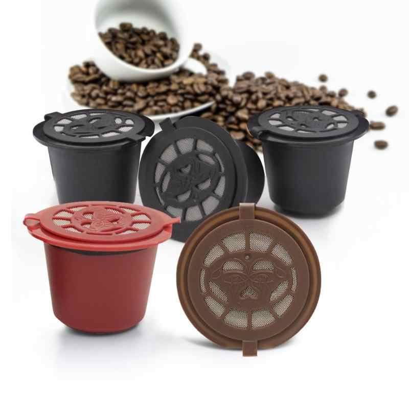 Filtro de café nespresso 3pcs 20ml refil Cápsula de café Nespresso com colher escova reutilizável filtros para ferramentas de cozinha Acessórios