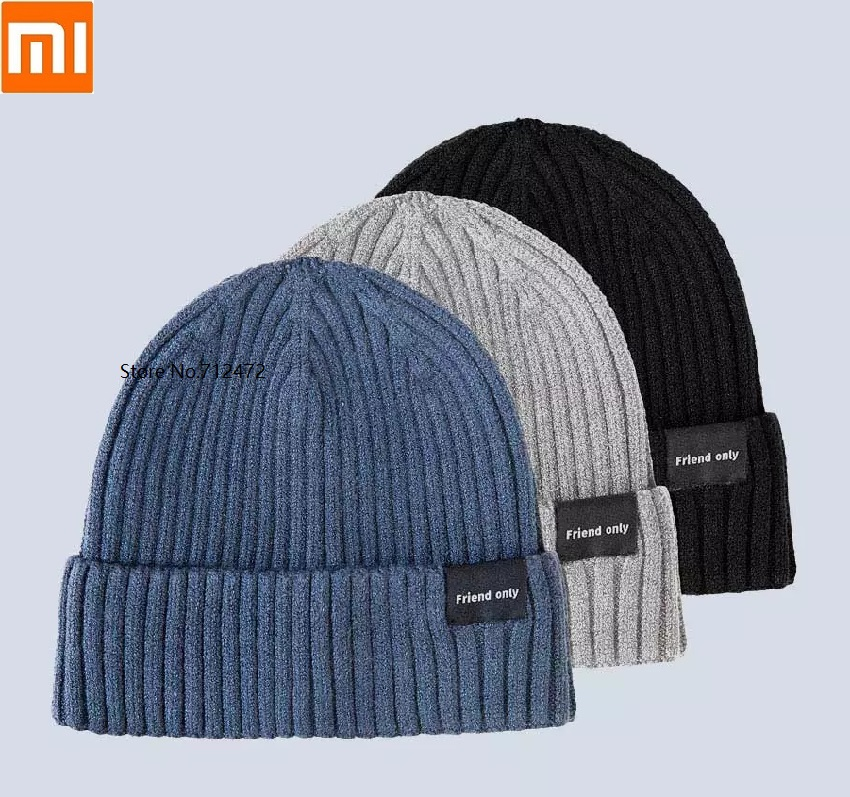 Xiaomi Fashion Men Women Warm Velvet Knit Hat Warm And Comfortable Elastic Outdoor Warm Thickening Casual Cap