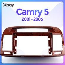 XPAY 9-дюймовая 2din приборная панель автомобильного радио для Toyota Camry 5 2001 2002 2003 2004 2005 2006 стерео панель для рестайлнг крепления автомобильной пан...