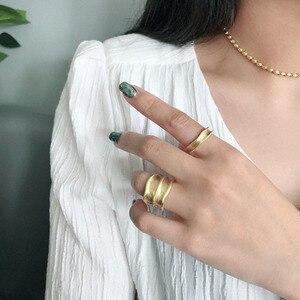 Image 5 - SSTEEL 925 anillos de plata esterlina de acero para mujer, anillo abierto, Anelli Argent, Argent Massif, joyería para mujer