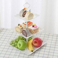 Пластиковые фруктовые закуски леденец набор послеобеденный чай десертная платформа многоэтажная Свадебная вечеринка форма торта торт маятник платформа