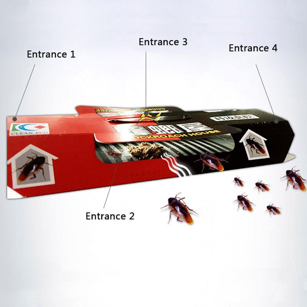 20pcs Cockroach Trap Bait Household Insect Pest Repeller Sticker Killer Repellent Control Use Office for Home Restaurant