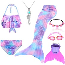 Zeemeermin Staarten Kostuums Zeemeermin Staarten Voor Zwemmen Mermaid Staart Met Monofin Meisjes Kostuums Swimmable Badpak Met Bikini Flippe