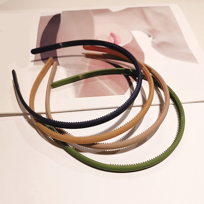 Hot Sales 1PC Plastic Fashion Thin Headband Resin Bezel Hairbands Frosted Hair Accessories For Woman Girls Hair Hoop Headwear
