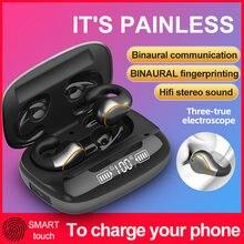 Bluetooth наушники tws с костной проводимостью микрофоном и