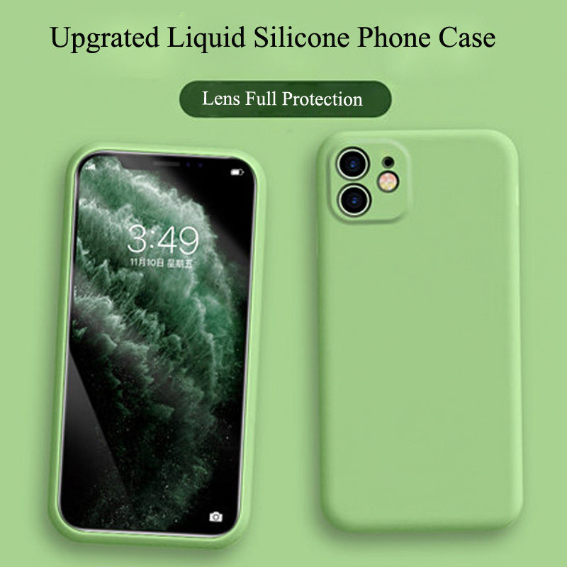 Lovebay Liquid Phone Case For IPhone 11Pro Max Simple Solid Color Camera Protection Back Cover For IPhone 11 Pro Soft Silicone