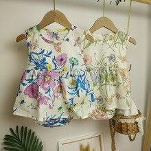 Summer Baby Girl Dress Floral Girl Dress Cute Princess Party Sleeveless Kids Dresses Toddler Baby Ca